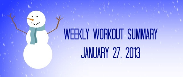 weekly workout 01.27.2013