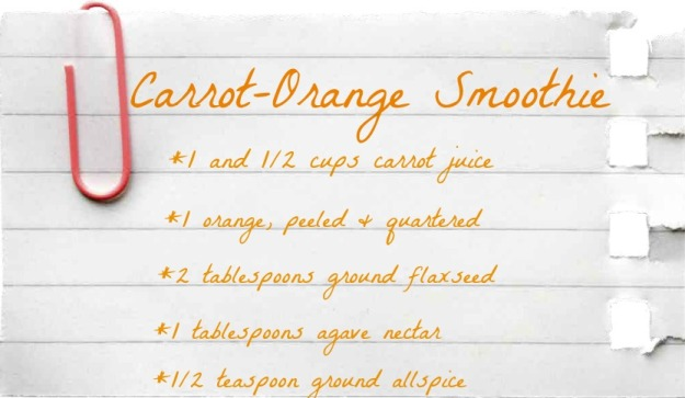 Carrot-Orange Smoothie // Herbivore Triathlete