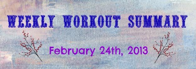 workout summary 02.24.2013