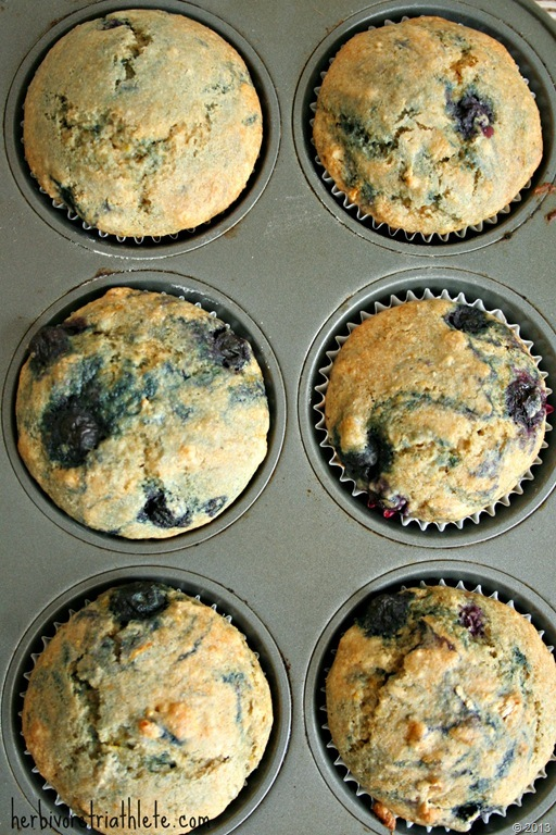 Meyer Lemon Blueberry Muffins - Herbivore Triathlete 2