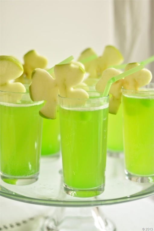 shamrock green drinks