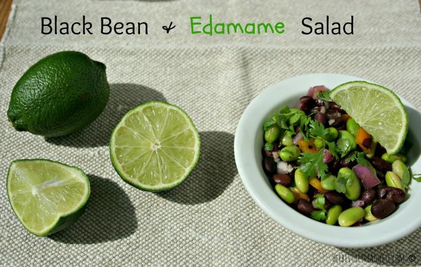 Black Bean & Edamame Salad | herbivoretriathlete.com