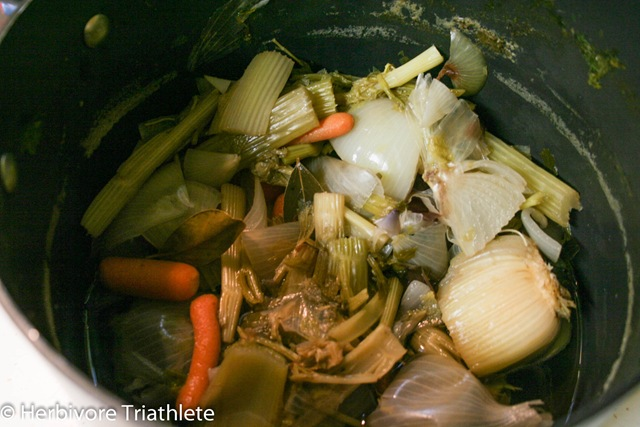 Homemade Vegetable Broth | Herbivore Triathlete