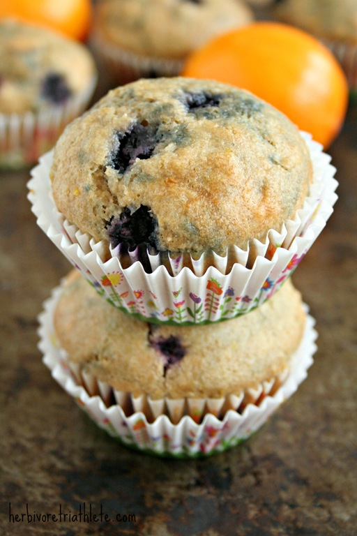Meyer Lemon Blueberry Muffins   Herbivore Triathlete